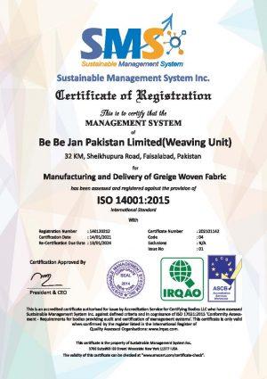 ISO 14001 (Weaving Unit)